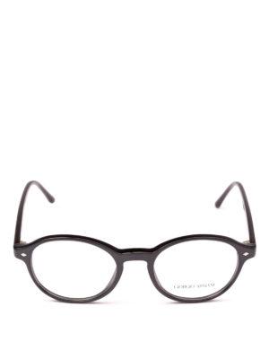 GIORGIO ARMANI: Occhiali online - Occhiali da vista tondi in acetato nero