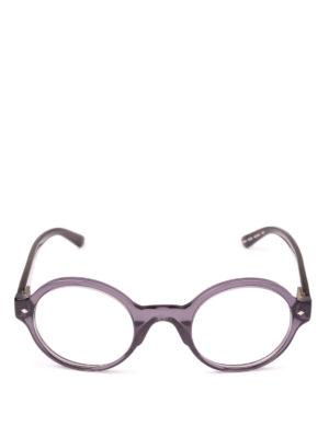 GIORGIO ARMANI: Occhiali online - Occhiali da vista tondi in acetato grigio
