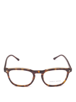 GIORGIO ARMANI: Occhiali online - Occhiali da vista rettangolari avana opaco