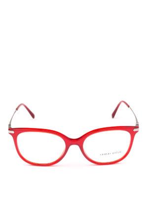 GIORGIO ARMANI: Occhiali online - Occhiali da vista in acetato rosso opale