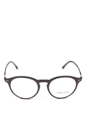 GIORGIO ARMANI: Occhiali online - Occhiali da vista forma panto neri lucidi