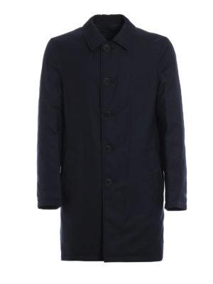 GIORGIO ARMANI: cappotti corti - Cappotto reversibile in nylon e cashmere
