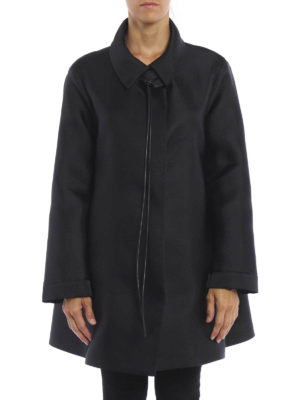 Giorgio Armani: short coats online - Satin short caban coat