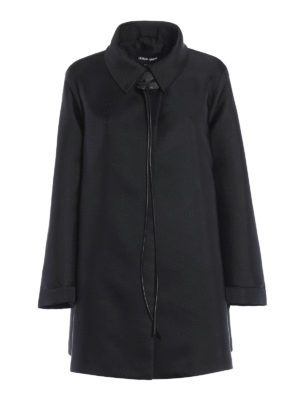 Giorgio Armani: short coats - Satin short caban coat
