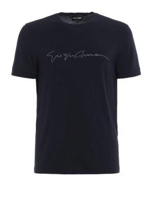 Giorgio Armani: t-shirts - Brand signature jersey T-shirt
