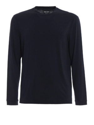 Giorgio Armani: t-shirts - Long sleeved jersey T-shirt