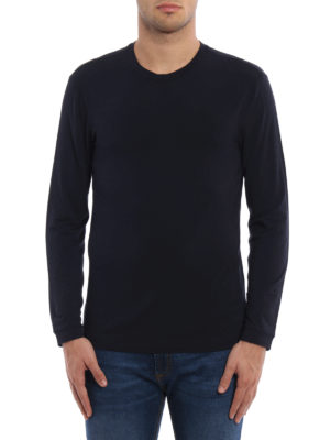 Giorgio Armani: t-shirts online - Long sleeved jersey T-shirt