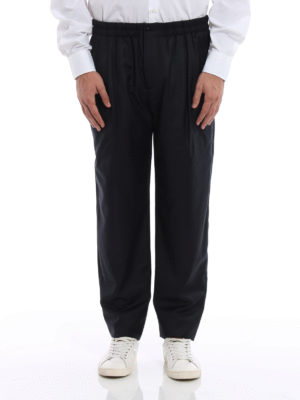 Giorgio Armani: Tailored & Formal trousers online - Wool and cashmere blend trousers