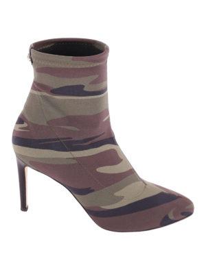 Giuseppe Zanotti: ankle boots - Celeste camu neoprene ankle boots
