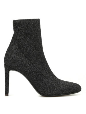 Giuseppe Zanotti: ankle boots - Celeste glittered fabric booties
