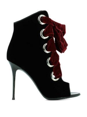Giuseppe Zanotti: ankle boots - Jeannine velvet ankle boots