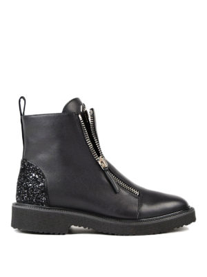 Giuseppe Zanotti: ankle boots - Kat glitter back ankle boots