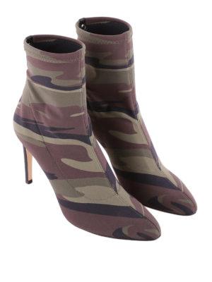 Giuseppe Zanotti: ankle boots online - Celeste camu neoprene ankle boots