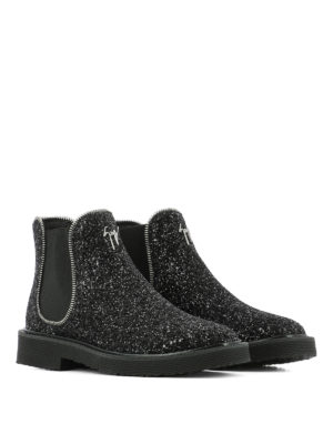 Giuseppe Zanotti: ankle boots online - Glitter slip-on ankle boots