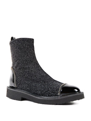 Giuseppe Zanotti: ankle boots online - Glittered sock ankle boots