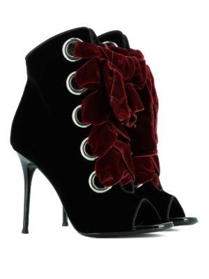 Giuseppe Zanotti: ankle boots online - Jeannine velvet ankle boots