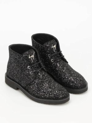 Giuseppe Zanotti: ankle boots online - Look glittered desert boots