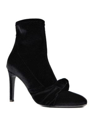 Giuseppe Zanotti: ankle boots online - Ophelia velvet sock ankle boots