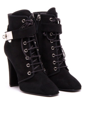 Giuseppe Zanotti: ankle boots online - Suede lace-up ankle boots