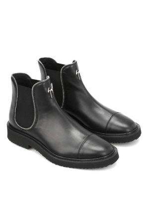 Giuseppe Zanotti: ankle boots online - Tyson leather booties