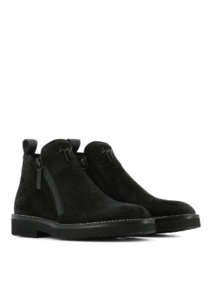 Giuseppe Zanotti: ankle boots online - Zipped suede ankle boots