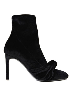 Giuseppe Zanotti: ankle boots - Ophelia velvet sock ankle boots