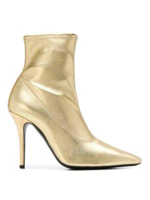 GIUSEPPE ZANOTTI: tronchetti - Tronchetti Salomè in pelle stretch oro