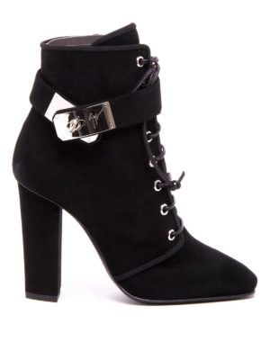 Giuseppe Zanotti: ankle boots - Suede lace-up ankle boots
