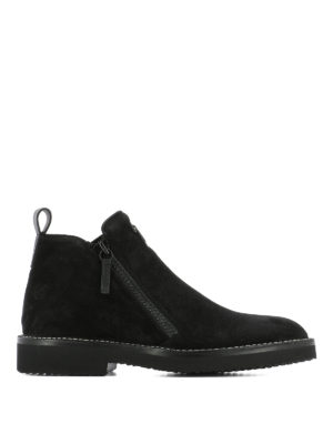 Giuseppe Zanotti: ankle boots - Zipped suede ankle boots