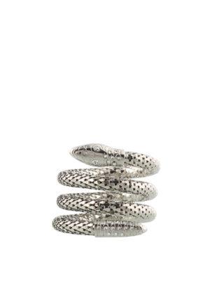 Giuseppe Zanotti: Anklets - Crystal embellished snake anklet