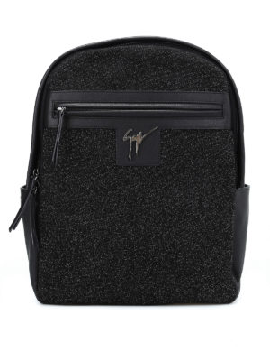 Giuseppe Zanotti: backpacks - Glitter panelled leather backpack