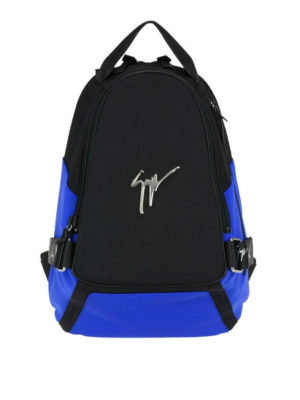 Giuseppe Zanotti: backpacks - Mack two-tone fabric backpack