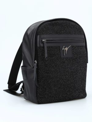 Giuseppe Zanotti: backpacks online - Glitter panelled leather backpack