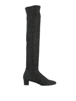 Giuseppe Zanotti: boots - Felicity over-the-knee lurex boots