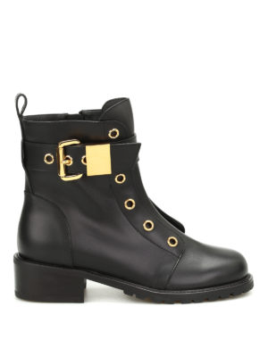 Giuseppe Zanotti: boots - Golden eyelet boots