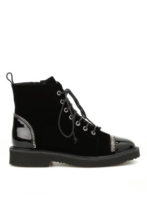 Giuseppe Zanotti: boots - Hilary velvet boots