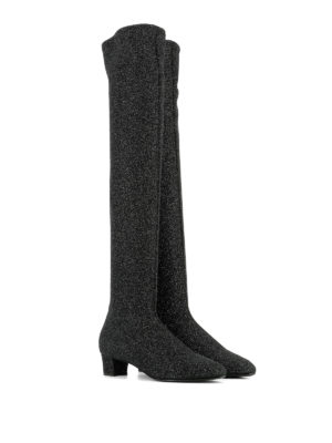 Giuseppe Zanotti: boots online - Felicity over-the-knee lurex boots