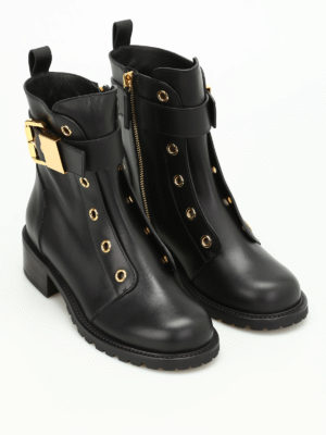 Giuseppe Zanotti: boots online - Golden eyelet boots