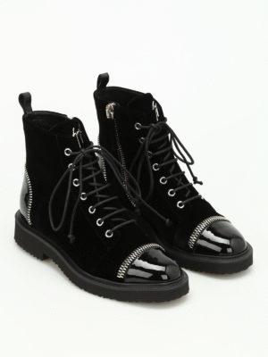 Giuseppe Zanotti: boots online - Hilary velvet boots