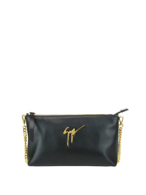 Giuseppe Zanotti: clutches - Lambada leather clutch