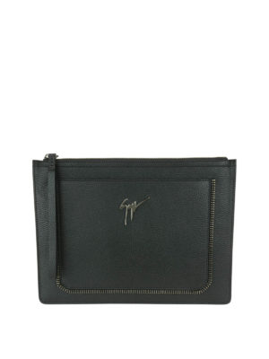 Giuseppe Zanotti: clutches - Marcel leather clutch