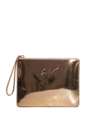 Giuseppe Zanotti: clutches - Margery leather clutch