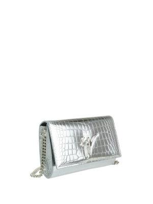 Giuseppe Zanotti: clutches online - Cleopatra croco print mirror clutch