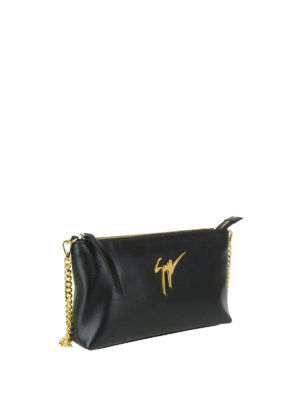 Giuseppe Zanotti: clutches online - Lambada leather clutch