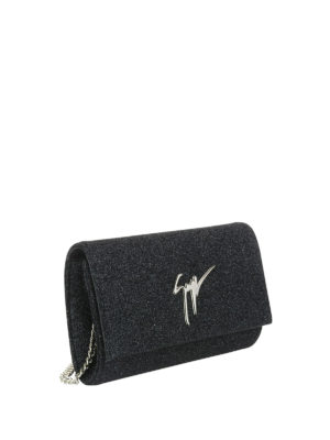 Giuseppe Zanotti: clutches online - Lory Bright glittered clutch