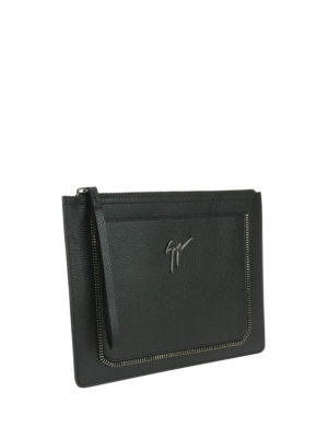 Giuseppe Zanotti: clutches online - Marcel leather clutch