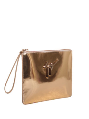 Giuseppe Zanotti: clutches online - Margery leather clutch