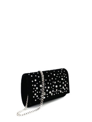 Giuseppe Zanotti: clutches online - The Dazzling Kimmy velvet clutch