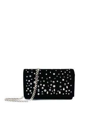 Giuseppe Zanotti: clutches - The Dazzling Kimmy velvet clutch