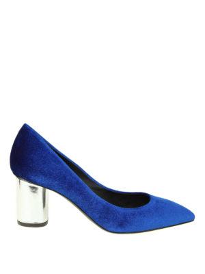 GIUSEPPE ZANOTTI: scarpe décolleté - Décolleté Crudelia in velluto blu elettrico